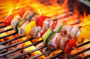 BBQの炭火